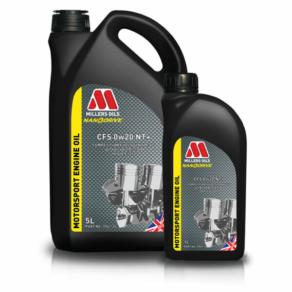 Millers Oils CFS 0w20 NT+ Motorsport Engine Oil 7961-1L & 7961-5L