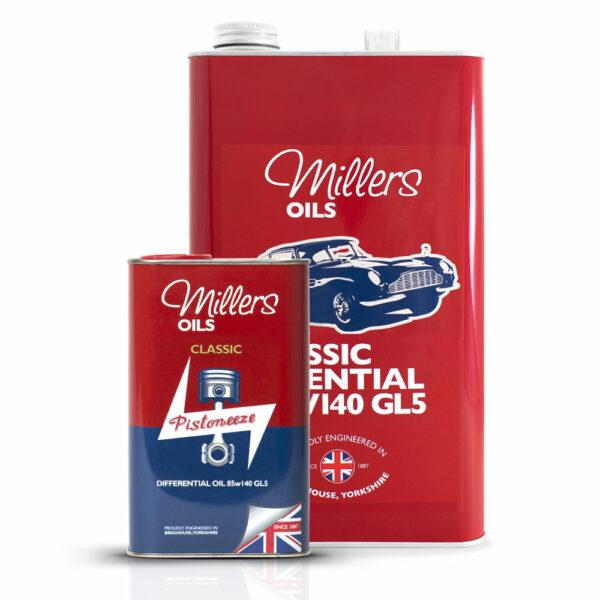 Millers Oils Classic Differential Oil 85w140 GL5 1L 5L 7930-1L & 7930-5L