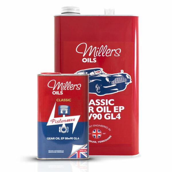 Millers Oils Classic Gear Oil EP 80w90 GL4 1L 5L 7927-1L & 7927-5L
