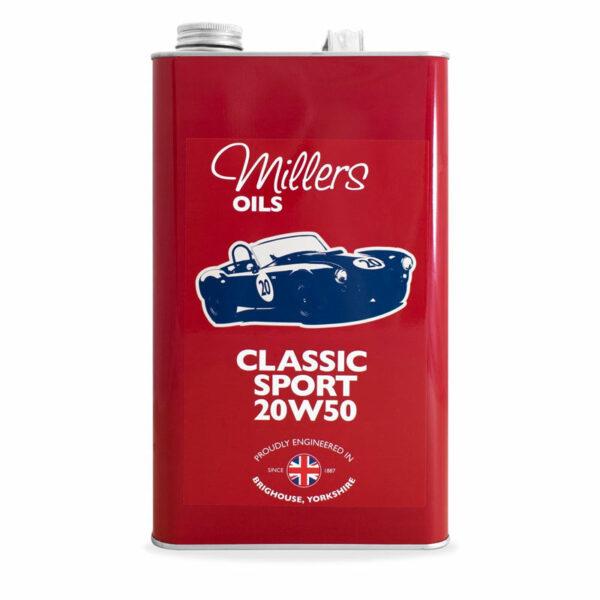 Millers Oils Classic Sport 20w50 Engine Oil 5L 7912-5L