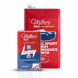 Millers Oils Classic Sport High Performance 20w50 Engine Oil 1L 5L 7911-1L 7911-5L