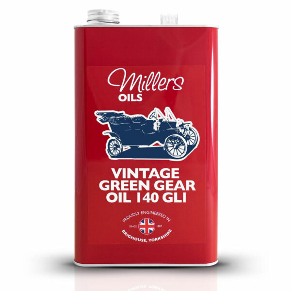 Millers Oils Vintage Green Gear Oil 140 GL1 5L 7925-5L