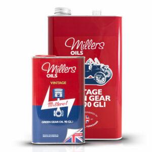 Millers Oils Vintage Green Gear Oil 90 GL1 1L 5L 7924-1L 7924-5L