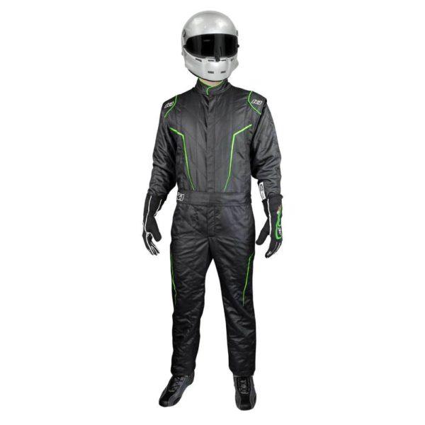 K1 Race Gear GT2 SFI Driver's Suit Black/Fluorescent Green