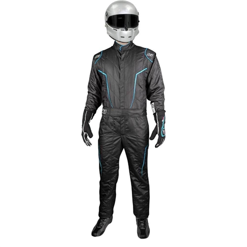K1 Race Gear GT2 SFI Driver's Suit Black/ Blue