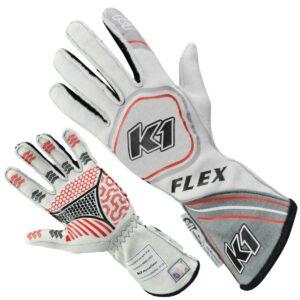 K1 RaceGear Flex Glove White 23-FLX-GW