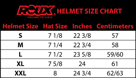 Roux Helmet Size Chart Helmet Fitting Sizing