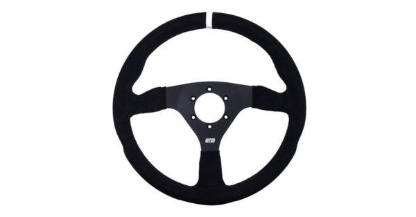 Gt2i Pro Suede Steering Wheel Flat Black