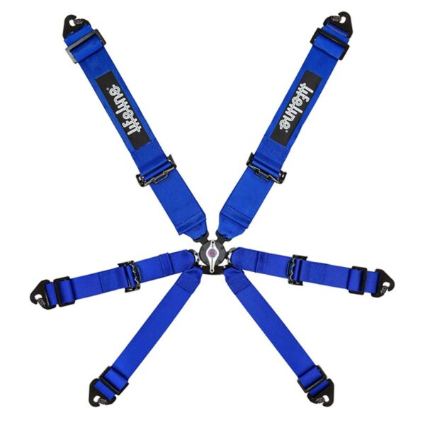Lifeline Blue Becketts 6-pt 3 Inch Racing Harness