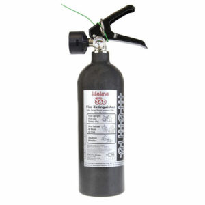 Lifeline Zero 360 1.0kg Novec 1230 Belt Mount Hand Held Fire Extinguisher