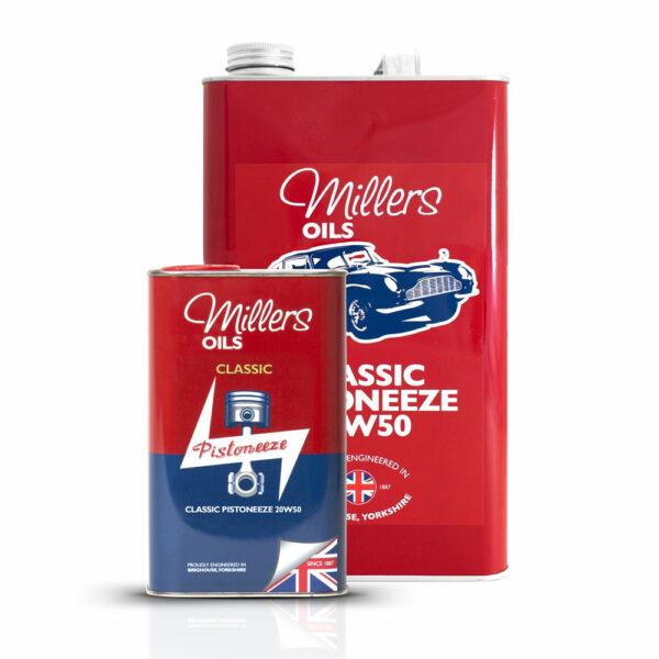 Millers Oils Classic Pistoneeze 20w50 Engine Oil 1L 5L 7913-1L & 7913-5L