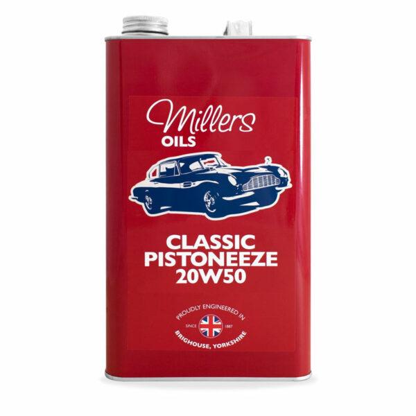 Millers Oils Classic Pistoneeze 20w50 Engine Oil 5L 7913-5L