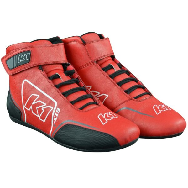 K1 GTX-1 Nomex Auto Racing Shoe angle pair red