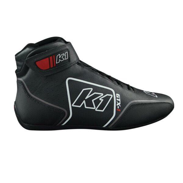 K1 GTX-1 Nomex Auto Racing Shoe side angle black