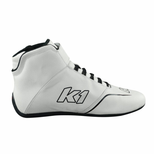 K1 GTX-1 Nomex Auto Racing Shoe side inside white