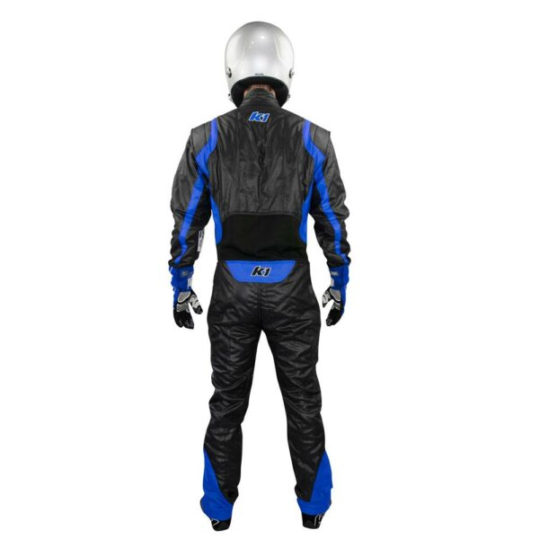 K1 RaceGear Precision II Suit SFI Blue Auto Racing Suit Back