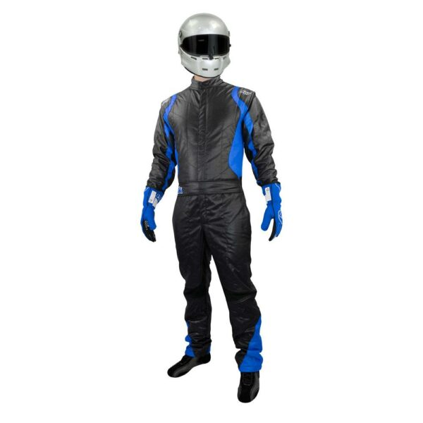K1 RaceGear Precision II Suit SFI Blue Auto Racing Suit Front