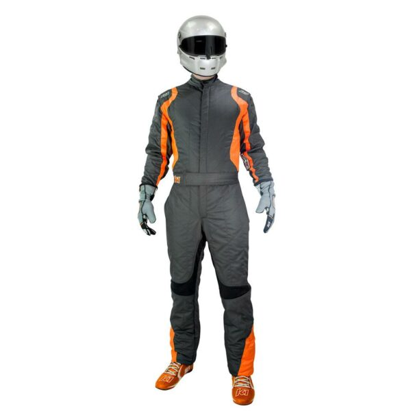 K1 RaceGear Precision II Suit SFI Orange Auto Racing Suit Front