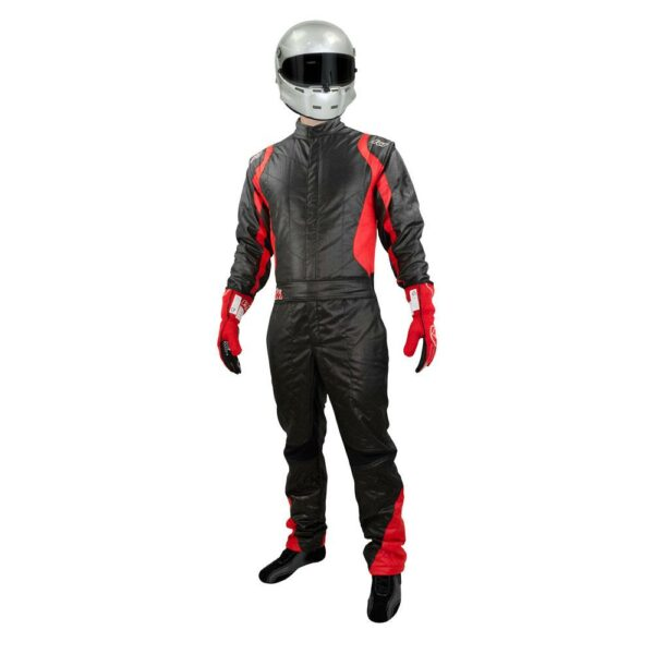 K1 RaceGear Precision II Suit SFI Red Auto Racing Suit Front