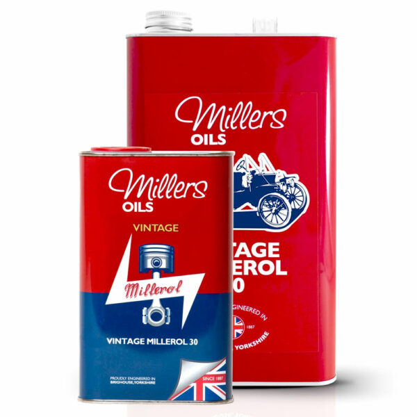 Millers Oil Vintage Millerol 30 Engine Oil 7905-1L & 7905-5L