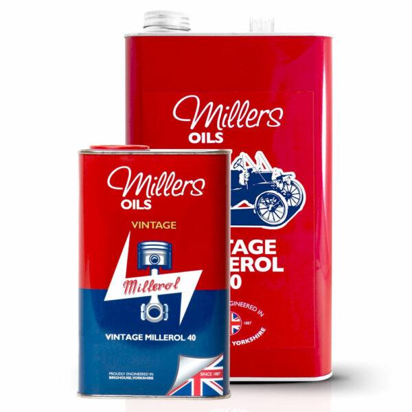 Millers Oil Vintage Millerol 40 Engine Oil 1L 5L 7906-1L & 7906-5L