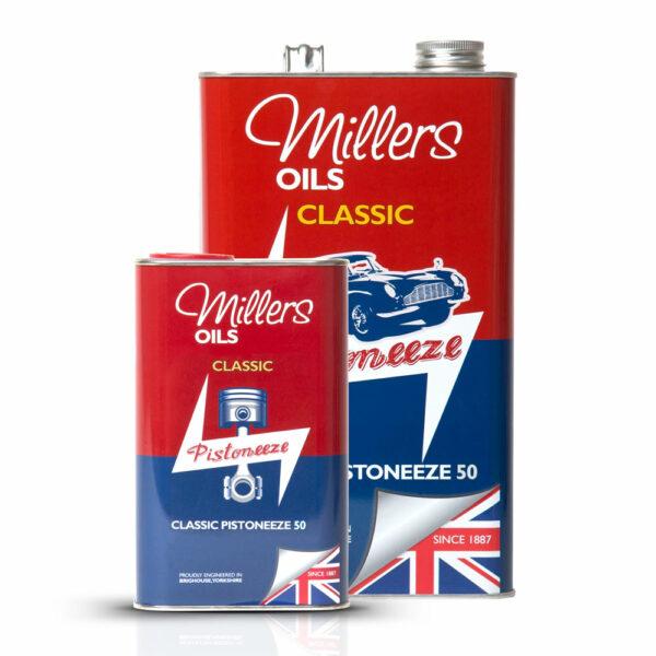 Millers Oils Classic Pistoneeze 50 Engine Oil 1L 5L 7910-1L 7910-5L