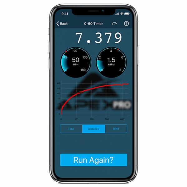 Apex Pro OBDII Interface 0- 60 data