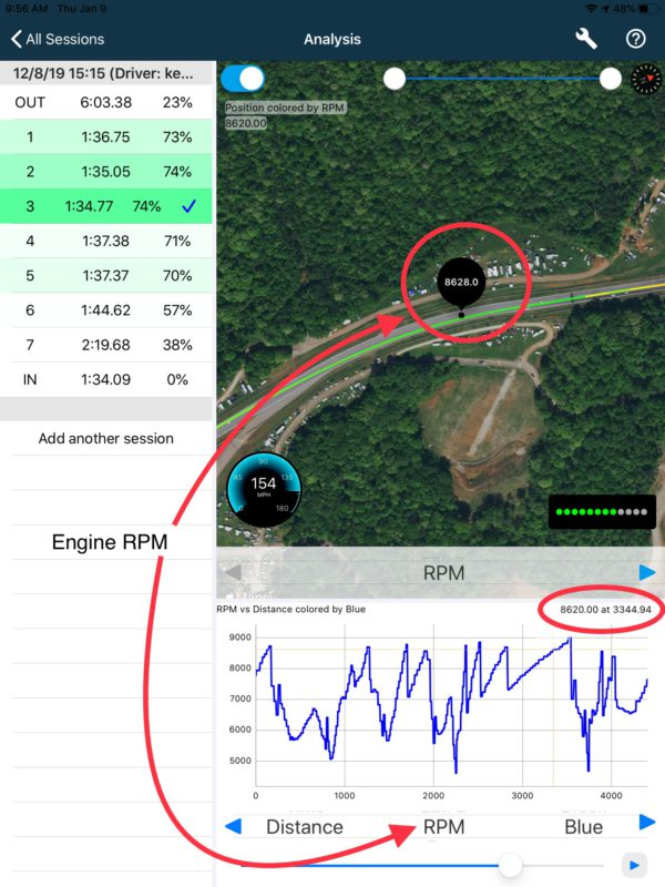 Apex Pro OBDII Interface map interface