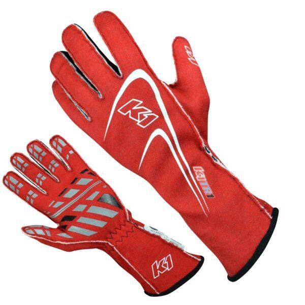 K1 RaceGear Motorsport Track 1 Glove Red